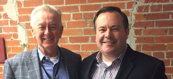 Former Reform Party leader Preston Manning and Jason Kenney.