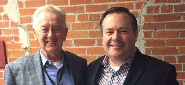 Former Reform Party leader Preston Manning and Jason Kenney.
