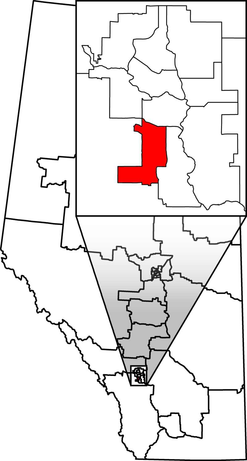 The Calgary-Heritage federal riding (image from Wikipedia)