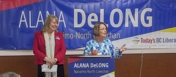 BC Minister of Jobs, Tourism, and Skills Training Shirley Bond (right) and former Alberta PC MLA Alana DeLong.