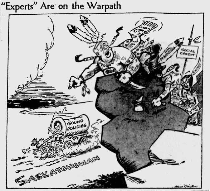 A political cartoon in The Leader-Post in May 1938.