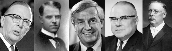 Ernest Manning, Joseph Tweed Shaw, Peter Lougheed, Harry Hays, and Alexander Rutherford are a few of the Alberta politicians with electoral districts bearing their name.