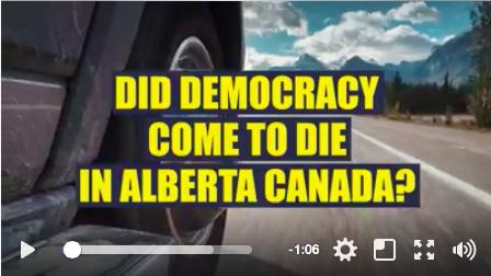 A screenshot of a Keep Alberta Working campaign video.