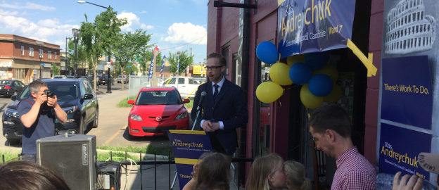 Kris Andreychuk launches his campaign for Edmonton City Council in Ward 7.
