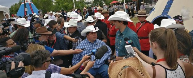 Photo: Kent Hehr with Prime Minister Justin Trudeau at the Calgary Stampede in July 2017. (Photo from Kent Hehr's Facebook Page)