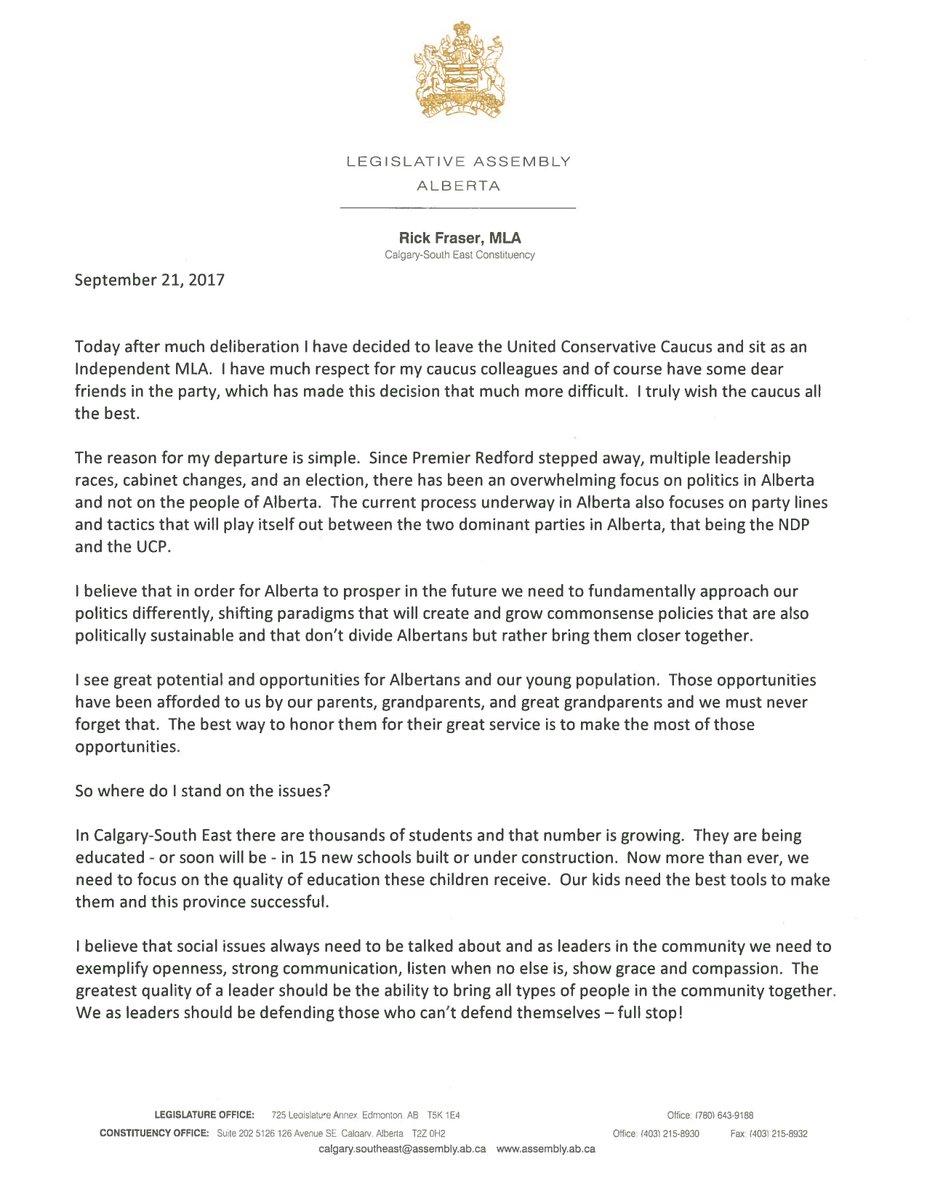 Doug Mack An Open Letter