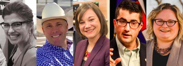 Best of Alberta Politics 2017 Survey Photo: Jessica Littlewood, Greg Clark, Shannon Phillips, Nathan Cooper, and Sarah Hoffman.