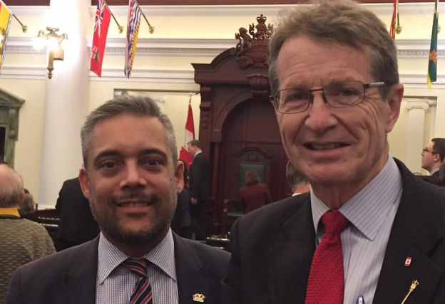 Liberal Party leader David Khan and Liberal MLA David Swann (photo from Facebook)