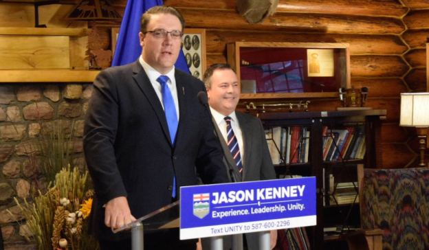 UCP MLA Jason Nixon endorsing Jason Kenney's bid for the leadership of the United Conservative Party.