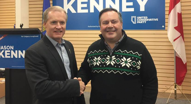 Grant Hunter and Jason Kenney (source: Facebook)