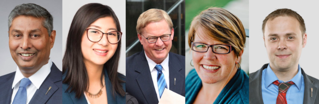 Alberta Election Candidates 2019 Prasad Panda Abagail Douglass David Eggen Kate Potter Graham Sucha