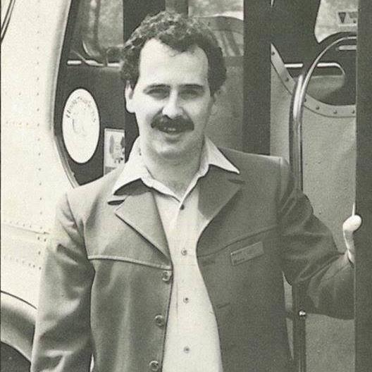 Brian Mason as a city transit driver in the 1980s. (source: Facebook)