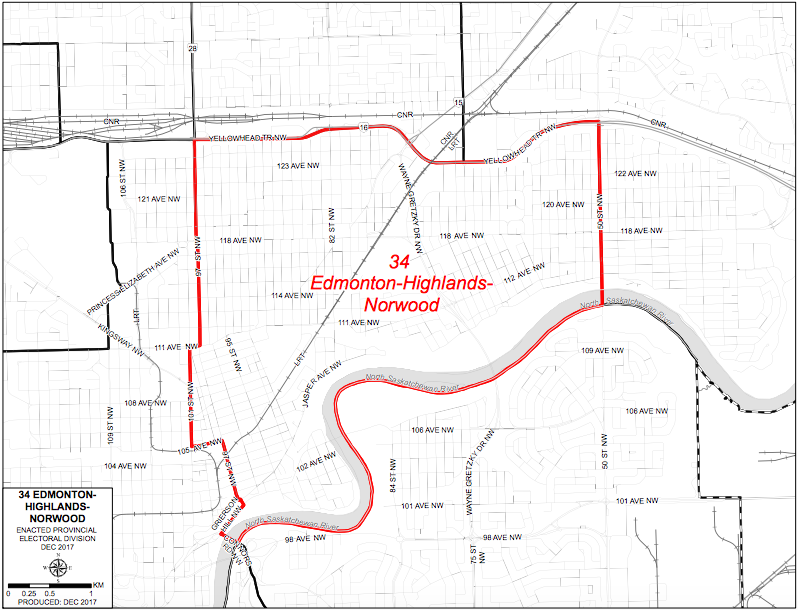 Edmonton-Highlands-Norwood 2019 Map