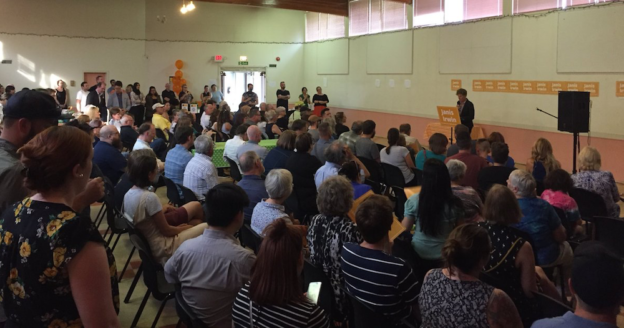 More than 200 people packed into the Bellevue Community Hall tonight to support Janis Irwin's bid for the NDP nomination in Edmonton-Highlands-Norwood.