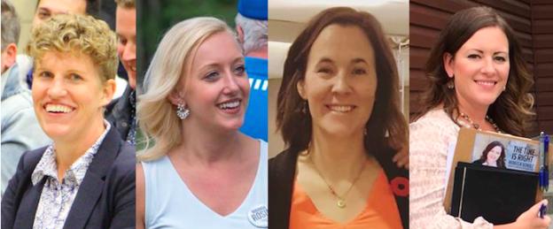 Alberta Election candidates Janis Irwin, Miranda Rosin, Janet Eremenko, and Rebecca Schulz.