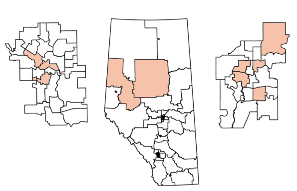 Alberta NDP nominated women candidates (as of November 9, 2018)