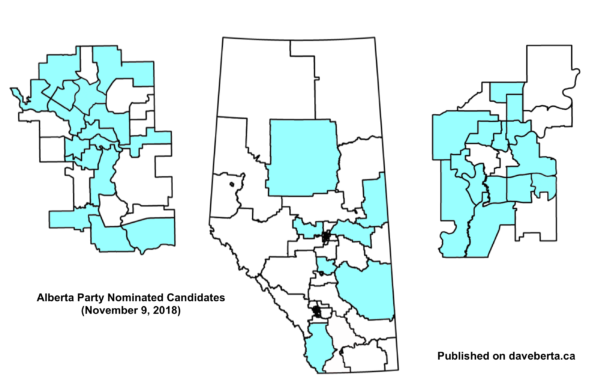 Alberta Party Nominated Election Candidates (as of November 9, 2018)