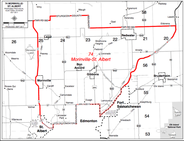 Morinville-St Albert Electoral Boundaries
