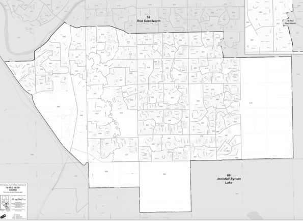 Red Deer-South Alberta Constituency Map
