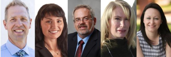 Lethbridge East UCP nomination candidates: Nathan Neudorf, Kimberly Lyall, Bryan Litchfield, Robin James and Angela Zuba
