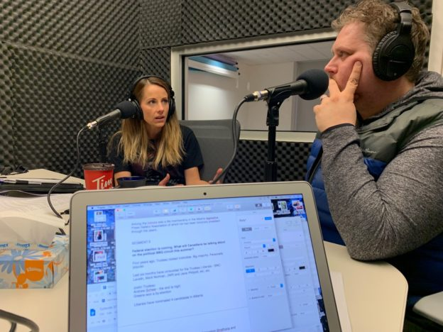 Daveberta Podcast guest co-hosts Lianne Bell and Chris Henderson