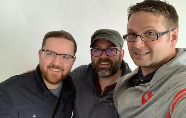 Dave Cournoyer, Adam Rozenhart, and Ryan Hastman of the Daveberta Podcast.
