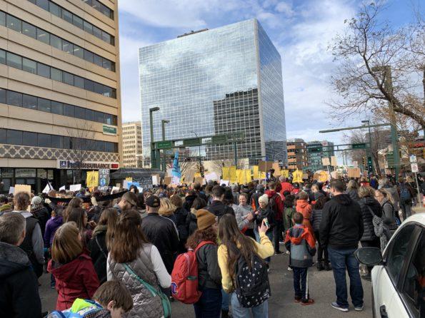Climate Strike in Edmonton, Alberta with Greta Thunberg