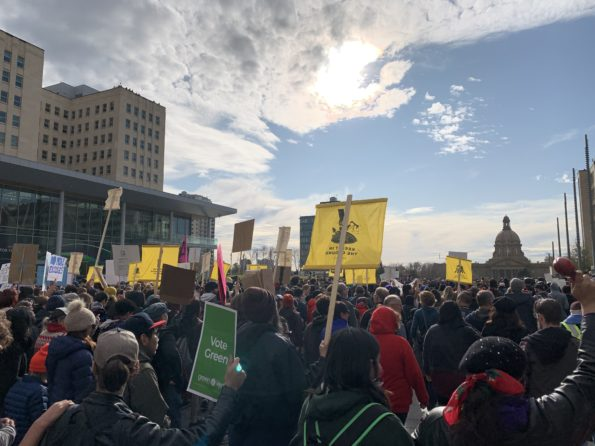 Climate Strike in Edmonton, Alberta with Greta Thunberg