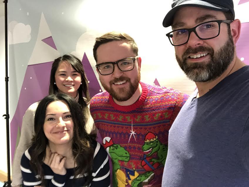 Episode 46 of the Daveberta Podcast: Natalie Pon, Tina Faiz, Dave Cournoyer and Adam Rozenhart.