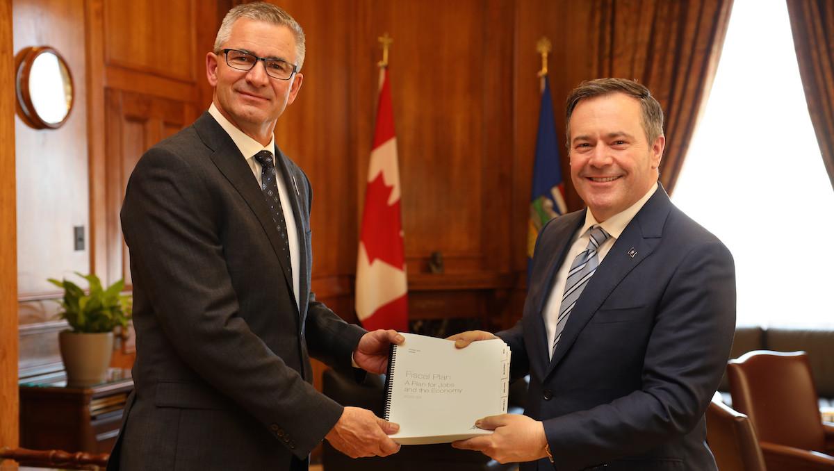 Travis Toews Jason Kenney Alberta Budget 2020