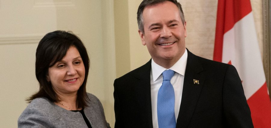 Education Minister Adriana LaGrange and Premier Jason Kenney (Source: Government of Alberta)
