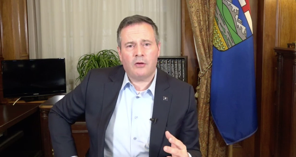 Premier Jason Kenney held a Facebook Live event to answer questions about the Fair Deal Panel final report on June 17, 2020 (Source: Facebook)