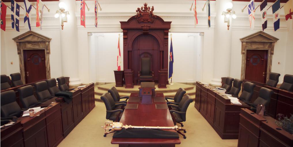 Alberta's Legislative Assembly chamber.