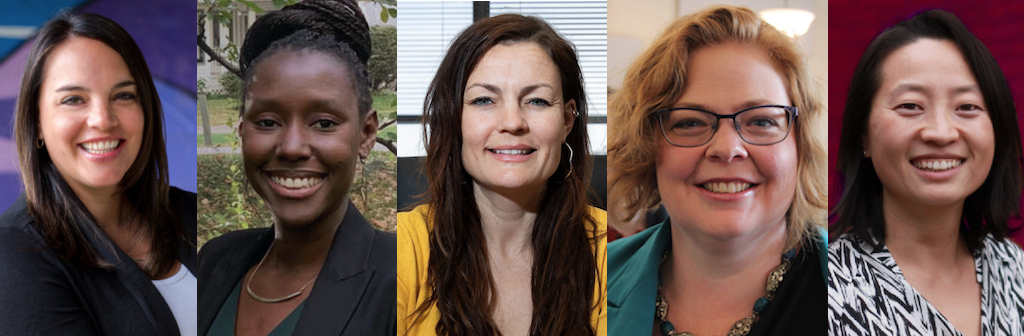 Declared Edmonton City Council candidates Cori Longo, Shamair Turner, Glynnis Lieb, Kirsten Goa, and Keren Tang.