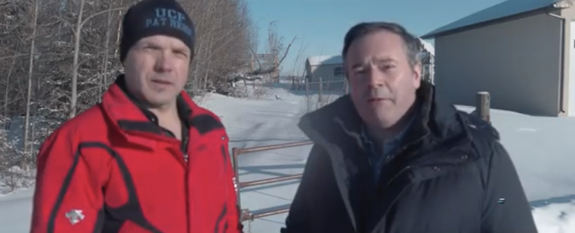 Pat Rehn and Jason Kenney during the 2019 election.