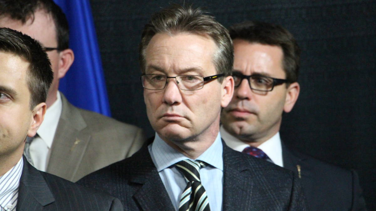 Drew Barnes, at the Wildrose Caucus press conference in response to Premier Alison Redford's resignation in March 2014.