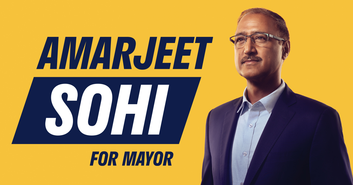 Former City Councillor and federal cabinet minister Amarjeet Sohi is running for Mayor of Edmonton.