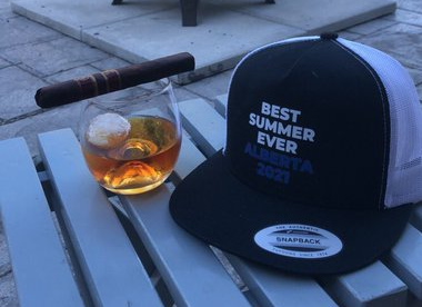 A Best Summer Ever 2021 hat posted by Ben Harper, a staffer working in Premier Kenney's office (source: Twitter)