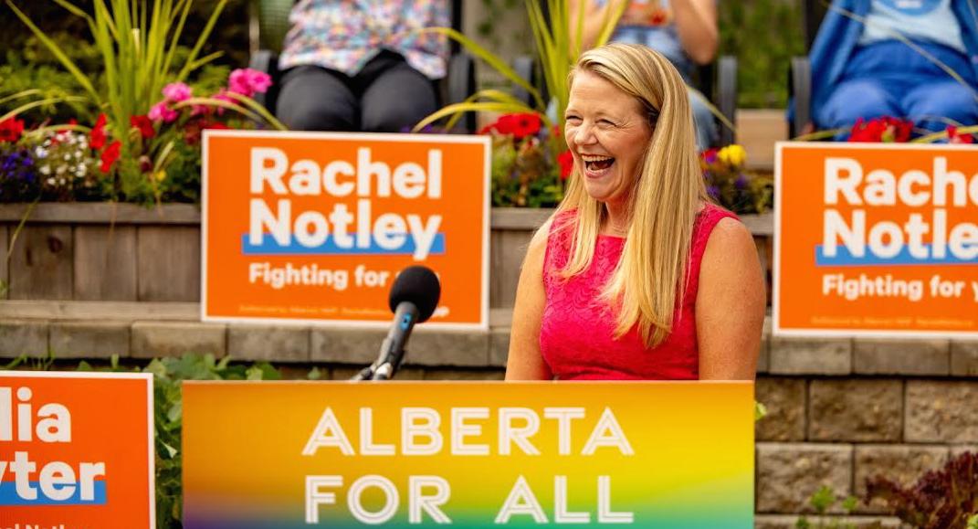 Calgary-Edgemont NDP candidate Julia Hayter (Source: Twitter)
